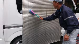 ブラインド洗浄施工画像